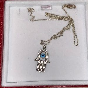 Hamsa Hand With Eye Necklace
